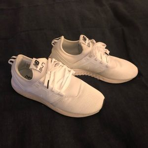 New Balance 247 white sneakers, sz 6.5